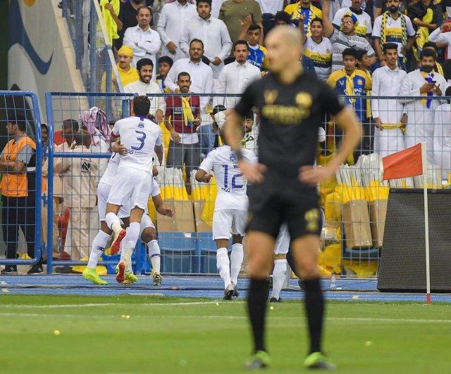 النصر يحسم الديربي امام الهلال في الدوري السعودي 25