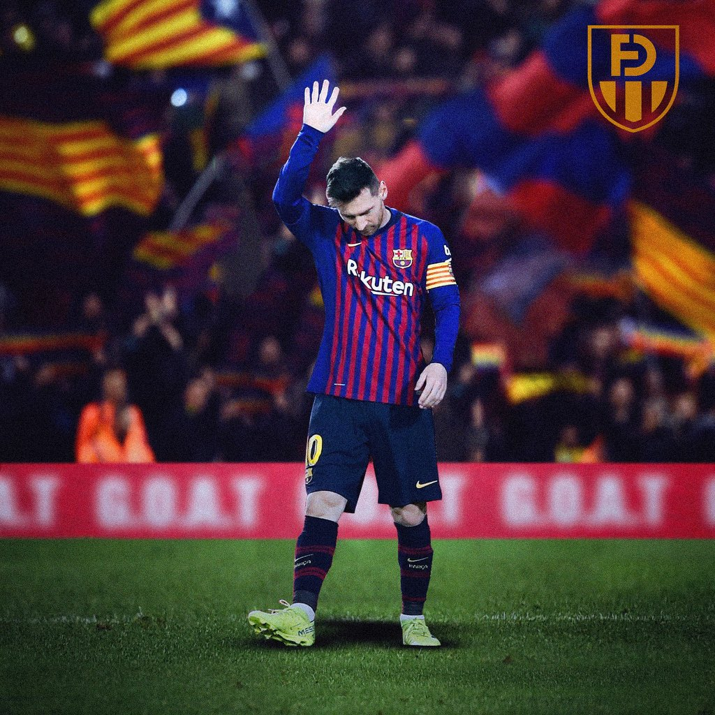 D27A8z0XgAAeayb - Breaking!!! Lionel Messi Becomes The First Player In History To Score A Paneka Freekick