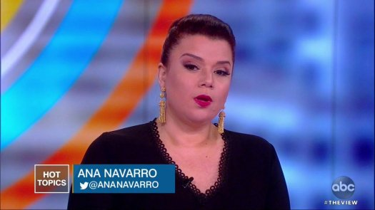 Image for the Tweet beginning: .@ananavarro responds to Pres. Trump's