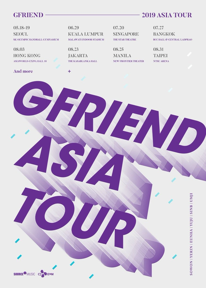 Image result for gfriend tour asia 2019