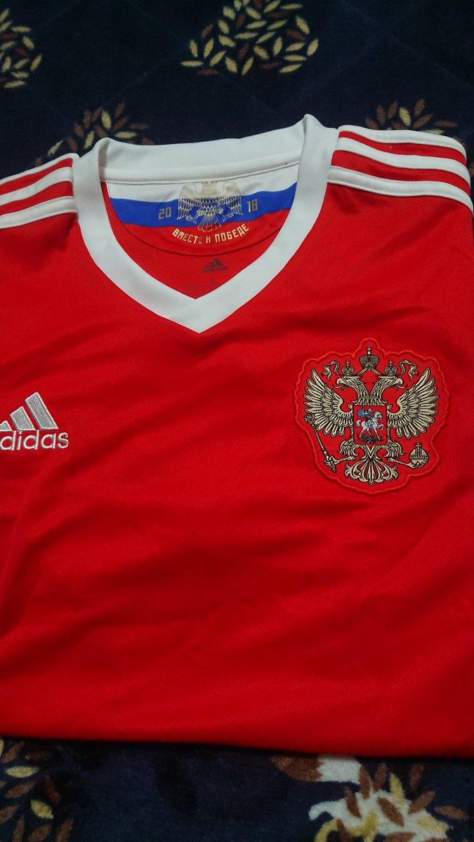 test ツイッターメディア - 昨年のワールドカップ仕様の日本代表(アウェイ)とロシア代表のユニフォームが昨夜届いた。このアウェイが好きなので嬉しい。ロシアはエンブレムがかっこいい。 https://t.co/8i9Bby1LGc
