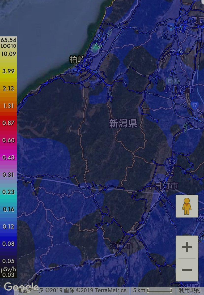 test ツイッターメディア - 新潟県柏崎刈羽原発付近も、そこそこ線量が高い。 https://t.co/Rbr3c5D1jz