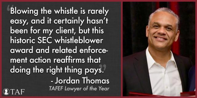 Image for the Tweet beginning: Jordan Thomas, TAFEF's Lawyer of