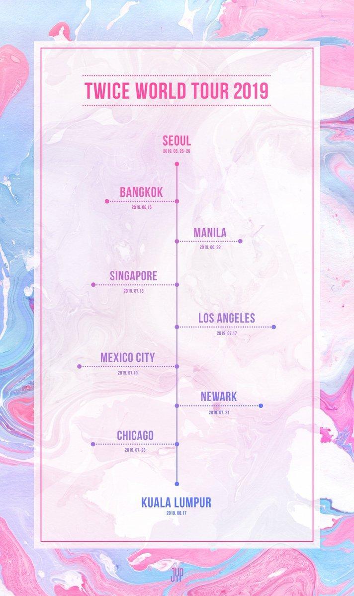 TWICE World Tour 2019 Schedule