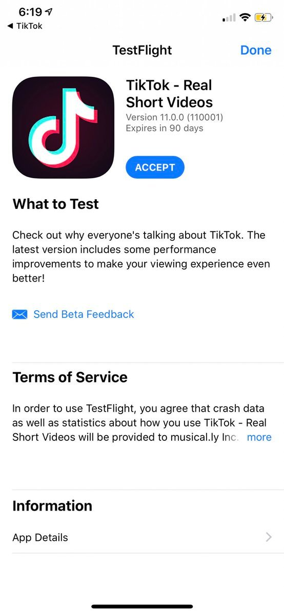 Tiffany Zhong On Twitter Don T Major Apps Have Testflight Beta Snap Whats Diff About Tiktok S