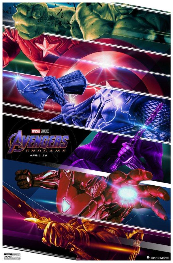 De wapens van The Avengers in nieuwe Avengers Endgame poster