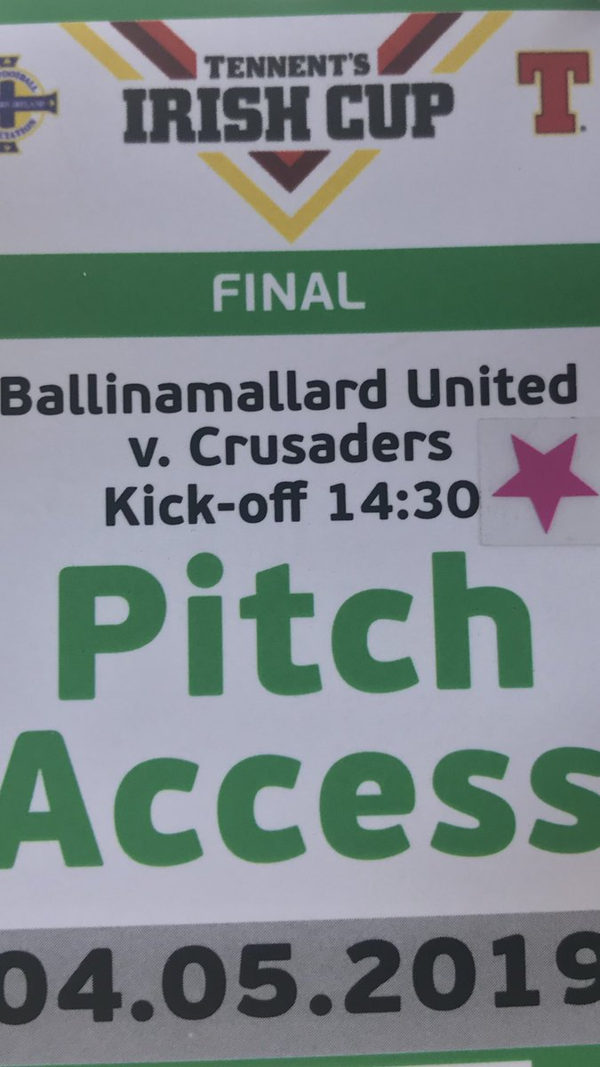test Twitter Media - It's Irish Cup Final day here in Windsor Park Belfast. It's Ballinamallard Utd V Crusaders live on BBC Two Ni, kick of here is at 14.30 https://t.co/ahbWO8Xmff