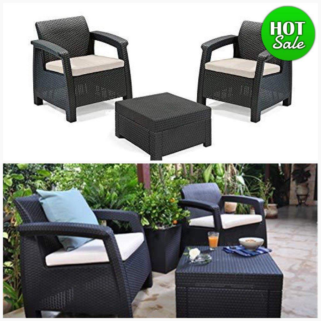 patio furniture green cushions set