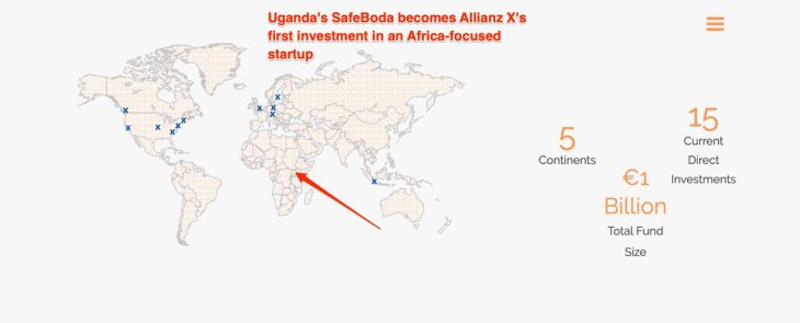 Image result for German investor Allianz X chooses Uganda's SafeBoda as its first African investment