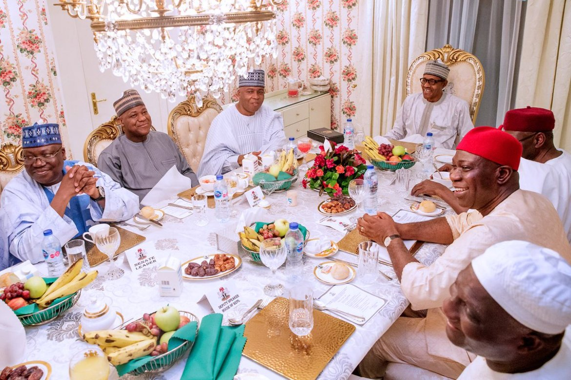 D6joEOJXoAAy1W3 - Breaking: Buhari And Saraki Meet For The First Time Since 2019 General Elections (Photos)