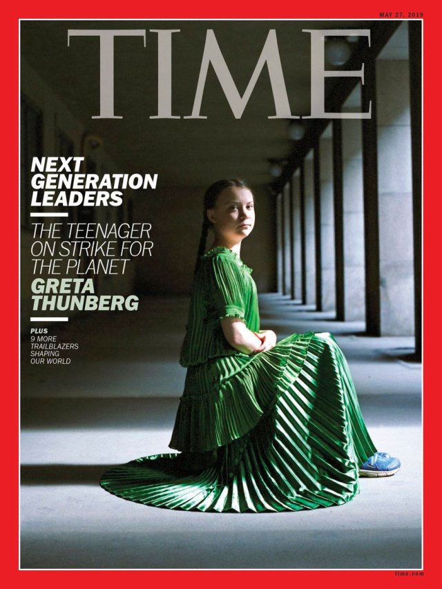 Image result for greta thunberg time magazine