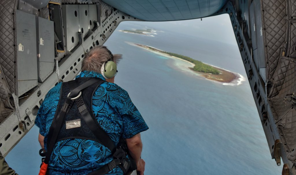 """António Guterres on Twitter: """"I'm in Tuvalu, on the extreme frontlines of  the global climate emergency. Rising seas threaten to drown this island  nation — a sign of what's in store for"""