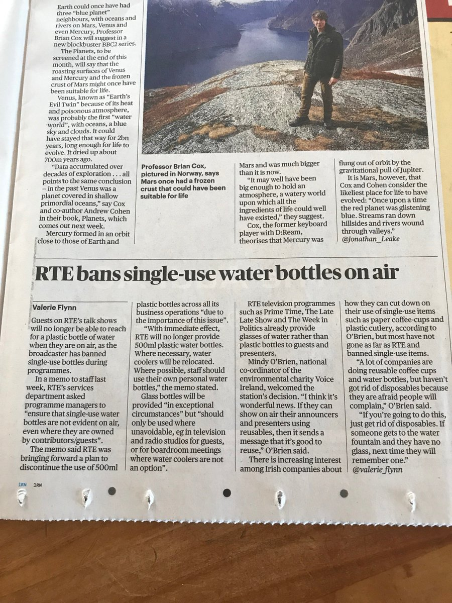 test Twitter Media - Positive step forward in the fight against single-use plastic water bottle - well done RTE! https://t.co/c3STySSvZY https://t.co/GxVGxIjG9s