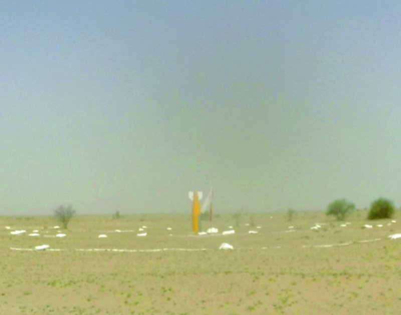 DRDO's 500 kg class Inertial Guided Bomb falls on the designated target after being dropped from a Su-30MKI fighter aircraft during a flight test at the Pokhran test range in Rajasthan on May 24, 2019.