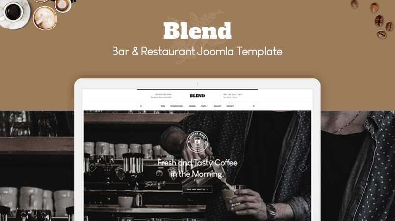 a fresh restaurant joomla template built for the bar cafe bistro drinks restaurant and all other foodies websites