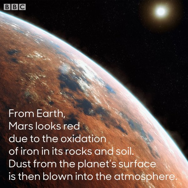 This is why Mars is nicknamed 'the red planet' #ThePlanets ...