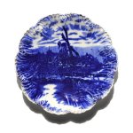 Lisa Bruce Schneider On Twitter Excited To Share This Item From My Etsy Shop Antique Flow Blue Plate Vintage Blue White Decorative Plate Blue Windmill Plate Wall Decor Blue White Plate Display