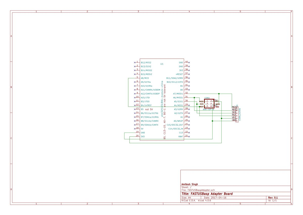 Stm32 Fastusbasp Programmer For Avr