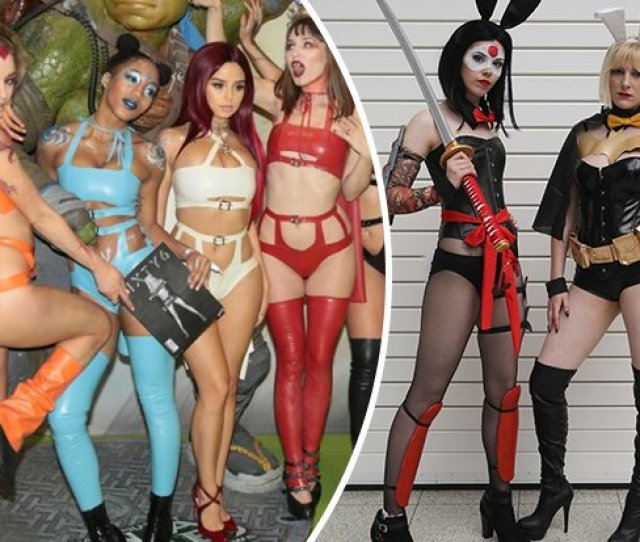 Cosplay Babes Bare All In Super Raunchy Display At London Comic Con Scoopnest Com