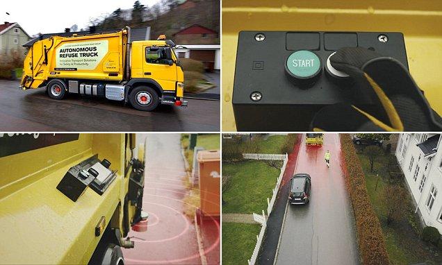 Volvo unveil automated garbage trucks  #IoT #AI