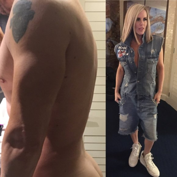 donnie wahlberg naked jenny mccarthy wearing romper