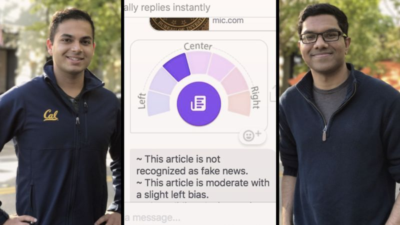 2 college students built a tool to fight fake news on Facebook using artificial intelligence