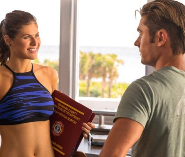 Baywatch Stars Zac Efron And Alexandra Daddario Say Boobs Will Bring People To The