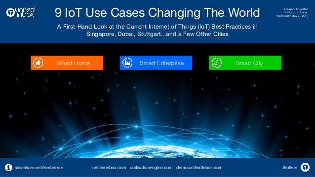 Nine #IoT Use Cases Changing the World  by @KenHerron