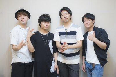 Yoshiki Nakajima, Toshinari Fukamachi (guest), Kento Ito and Junya Enoki