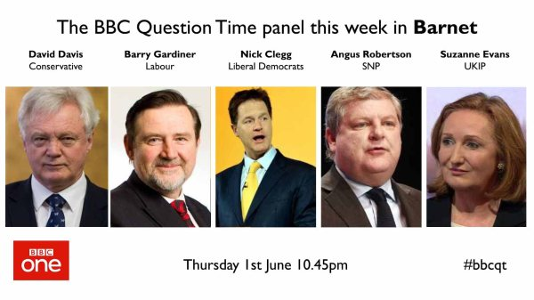 """BBC Question Time on Twitter: """"Here's the full panel for ..."""