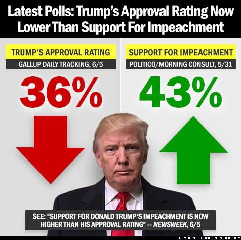 Trump approval rating now lower than Support for ...