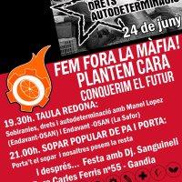 """[@EndavantlaSafor] @infofiga #ElCabasset presentació campanya """"#Sobiranies, #drets i #autodeterminació. @Endavant_OSAN"""