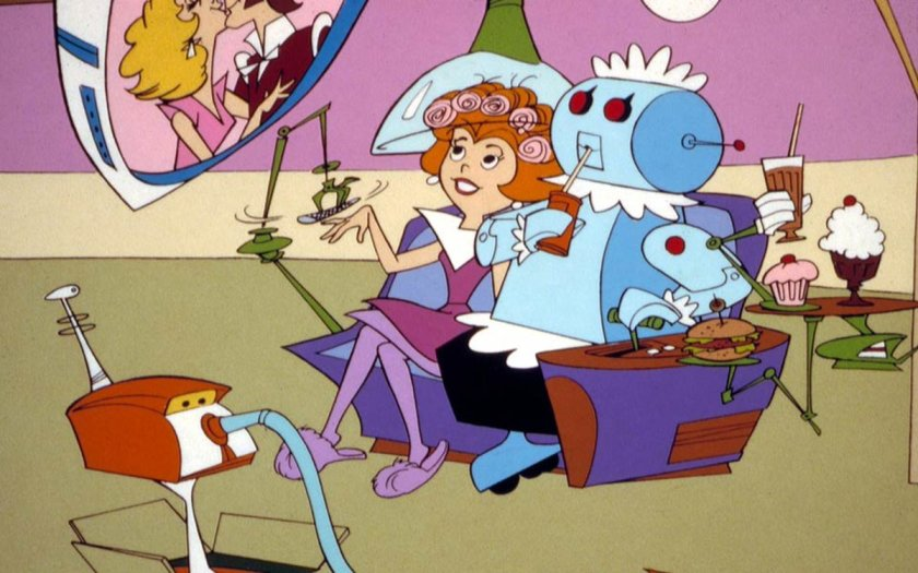 Jane Jetson didn't use #apps - ! #TheJetsons #IoT #AI #H2M