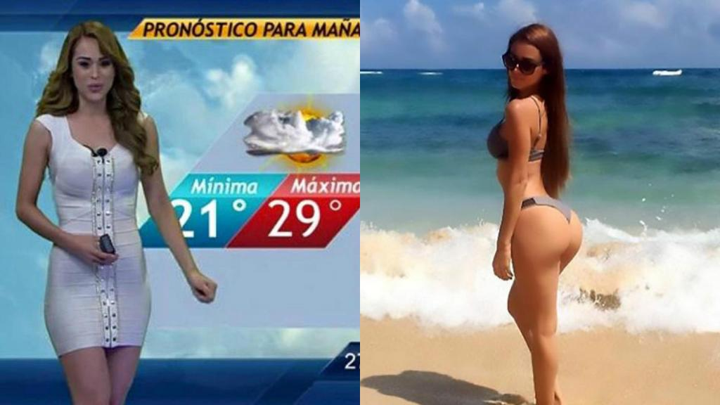 """The Sun on Twitter: """"The world's hottest weather girl Yanet Garcia has finally arrived in the UK. Here's why: https://t.co/23l4ylJsA6… """""""