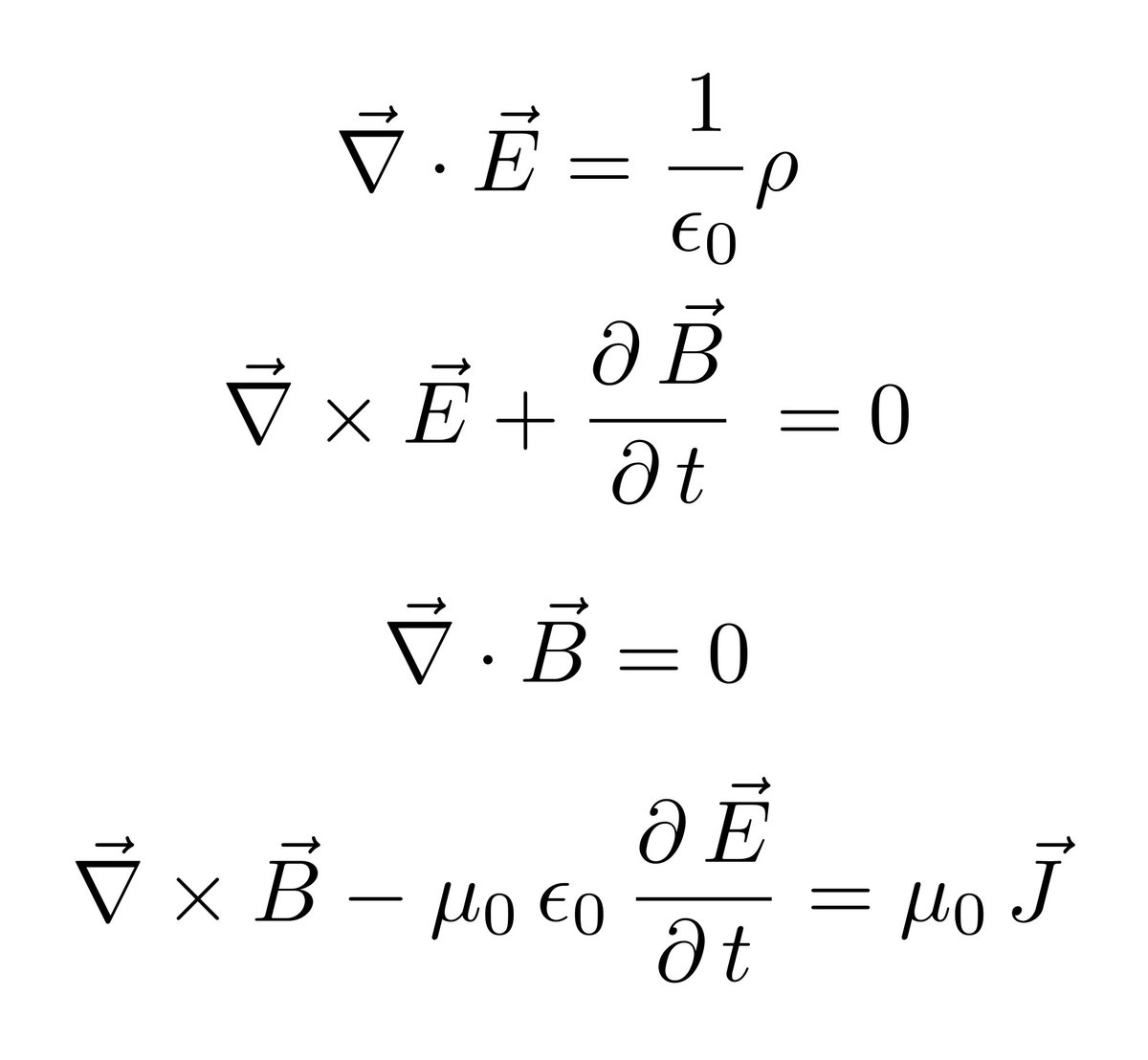 Electric And Mag Ic Field Equations