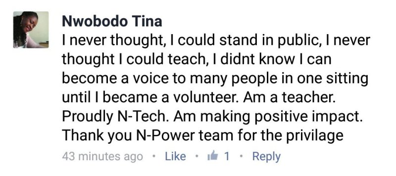 N-PowerNG Teach Testimonies