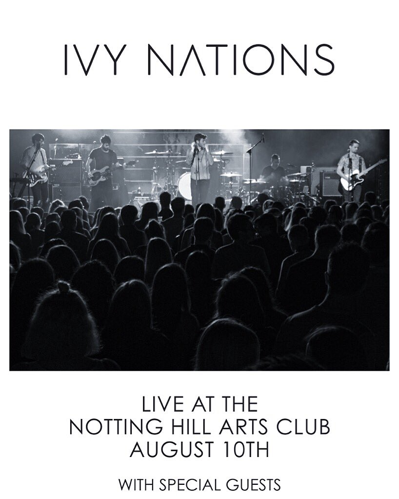 Excited to announce our first overseas show will be at the Notting Hill Arts Club, London, August 10. @NHAClub 🇬🇧 https://t.co/5CjgiHhYtc