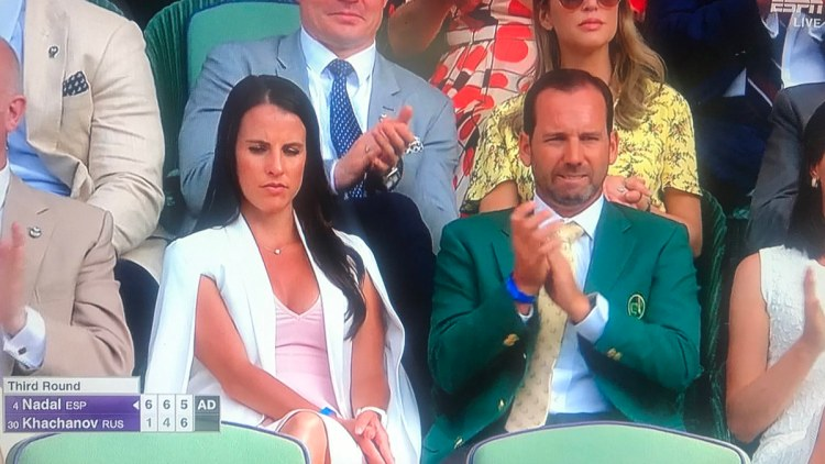 Sergio Garcia Is At Wimbledon And He's Rocking His Masters Green Jacket