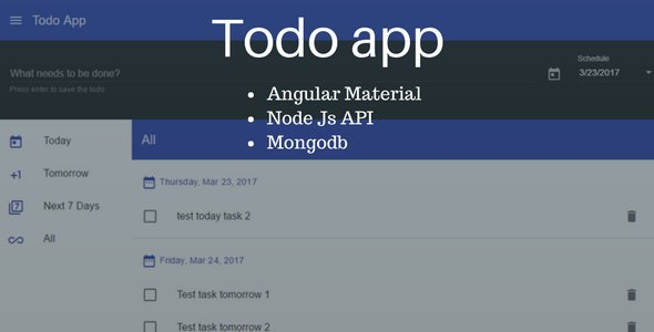 Todo App Using #AngularJS Material With #NodeJS And #Mongodb