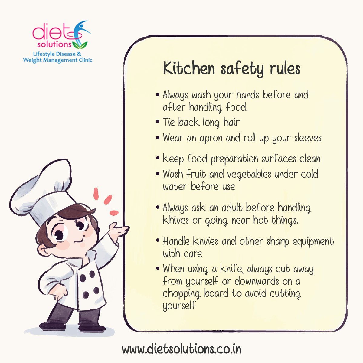 Kitchen Safety Rules Pictures To Pin