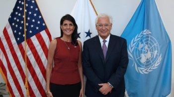 Image result for photo of U.S. Ambassador David Friedman and Nikki Haley