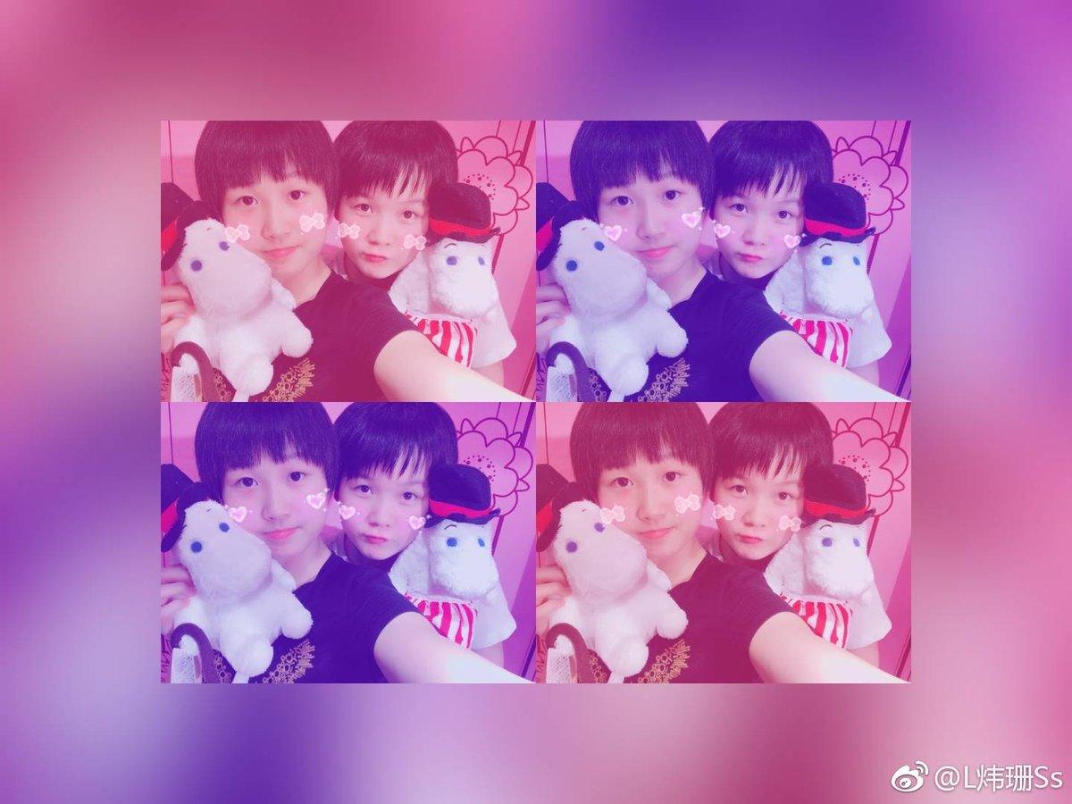 test ツイッターメディア - 中国女子卓球チームのマスコト 劉煒珊選手と袁媛選手です。 😘 weiboより https://t.co/nWaNt814Up