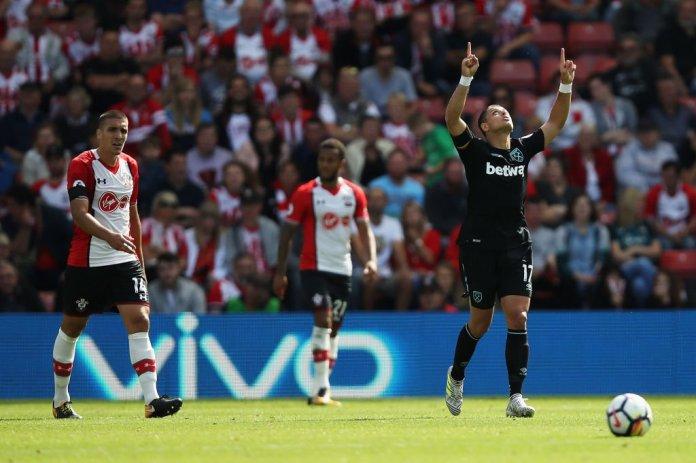 Gol Chicharito West Ham