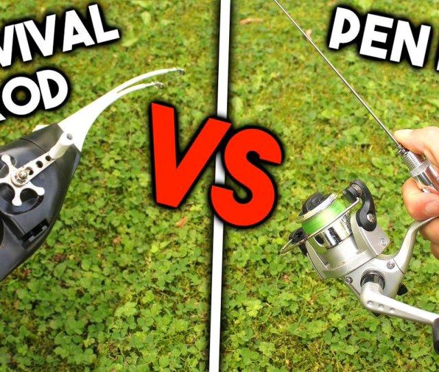 Survival Rod Vs Pen Rod New Vid On Tafishing Https T Co Nvornxjomv Fishing Challenge Fish Awesomearmy Https T Co Adceyfkg