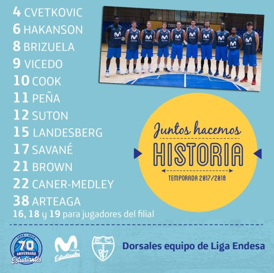 Dorsales Movistar Estudiantes 17 18