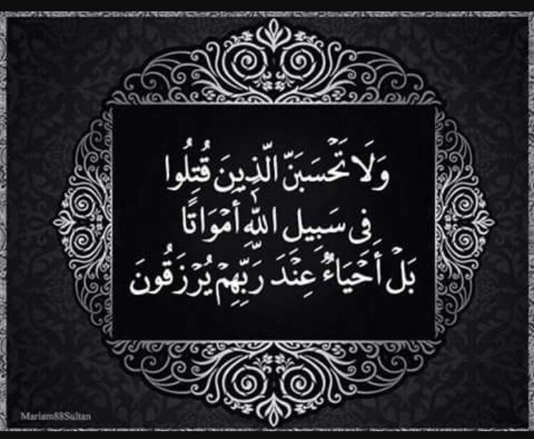 Mariam On Twitter ولا تحسبن الذين قتلوا في سبيل الله