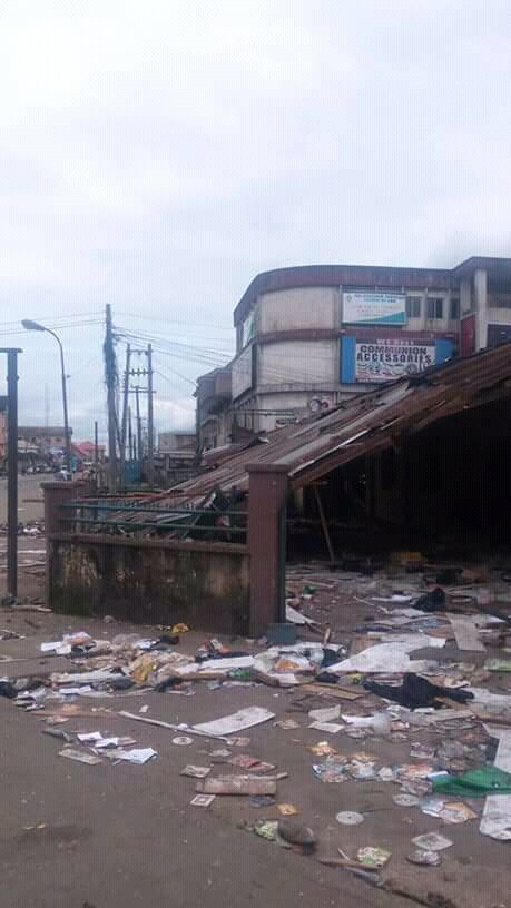 Yoruba mosque destroyed in Aba shared by www.medianet.info