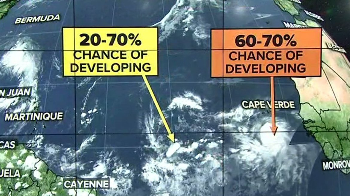 We're keeping our eye on two systems out in the Atlantic   #Hurricane #Tropics