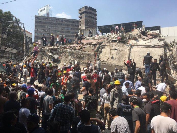 Fotos del sismo en México 2017