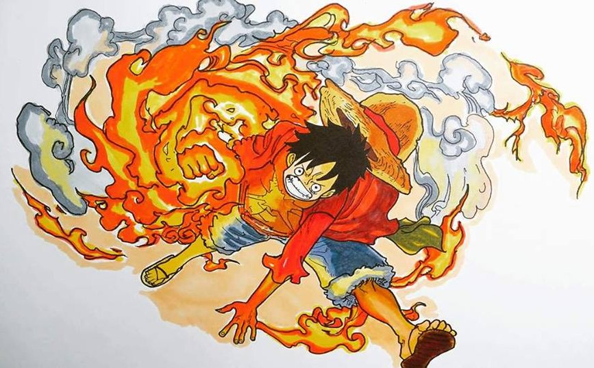 Consequently this burns fuel much faster, thus the tank will become empty much sooner. One Piece Wallpaper When Does Luffy Use Red Hawk